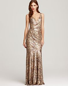 David Meister Sequin Tank Gown