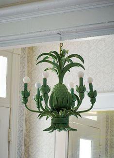 A vintage pineapple chandelier | Lonny.com