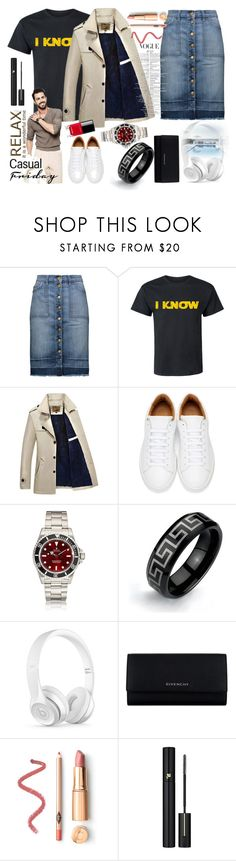 """Casual Friday in skirt for him"" by przemek-krupa ❤ liked on Polyvore featuring Current/Elliott, Marc Jacobs, Bling Jewelry, Beats by Dr. Dre, Givenchy, Lancôme, Chanel, men's fashion and menswear"