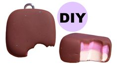 DIY Candy Polymer Clay Charm Chocolate Marshmallow