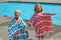 I saw a picture of the cutest of some towel ponchos recently.  The link was broken.    But I tried to make them anyway! As soon as I saw the picture – I knew I wanted to try to make towel ponchos for my kids!  Whenever we have the chance to go swimming – we …