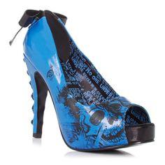 American Nightmare shoe by Iron Fist. Comes in four colors, blue, green, red and purple. All except red are very bright, on trend colors. Fun shoe, but I'm not dying to buy it.
