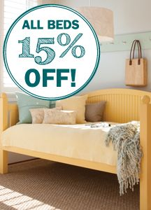 Enjoy 15% Off ALL Beds during this year's Sleep Well Sale! | Maine Cottage
