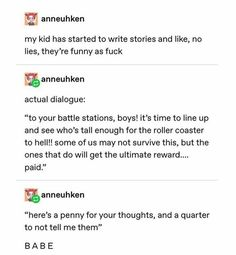 Stupid Funny Memes, Funny Relatable Memes, Hilarious, Book Writing Tips, Writing Prompts, Funny Pins, Funny Stuff, Random Stuff, Funny Tumblr Posts