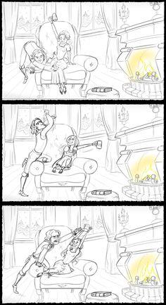 Rumbelle fan art cartoon 3/5