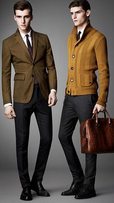 olive + mustard, winter colors, Burberry London Shawl Collar Knitted Jacket // menswear style + x Der Gentleman, Gentleman Style, Fashion Moda, Look Fashion, Daily Fashion, Looks Cool, Men Looks, Estilo Preppy, Burberry Men