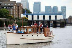 "Dunkirk Little Ship ""Mary Jane"" during the Queens 90th Birthday Flotilla.  #RiverThames #London #QueensBirthday #LittleShips #MaryJane"