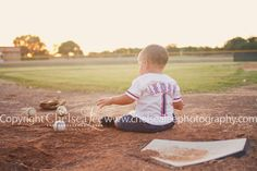 Baseball theme children's photography Austin Children's Photographer www.chelsealeephotography.com