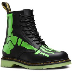 Dr. Martens Leather Skelly Ankle Boots ($112) ❤ liked on Polyvore featuring shoes, boots, ankle booties, black, black ankle bootie, short boots, black boots, leather booties and short black boots
