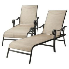 5 piece sling patio furniture set just reg 329 for Belmont brown wicker patio chaise lounge