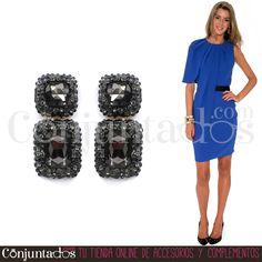 Sabemos lo que te gusta y lo tenemos ★ Pendientes Giselle: 13,95 € en https://www.conjuntados.com/es/pendientes/pendientes-largos/pendientes-giselle-negros-con-strass.html ★ #novedades #pendientes #earrings #conjuntados #conjuntada #joyitas #lowcost #jewelry #bisutería #bijoux #accesorios #complementos #moda #eventos #bodas #invitadaperfecta #fashion #fashionadicct #picoftheday #outfit #estilo #style #GustosParaTodas #ParaTodosLosGustos
