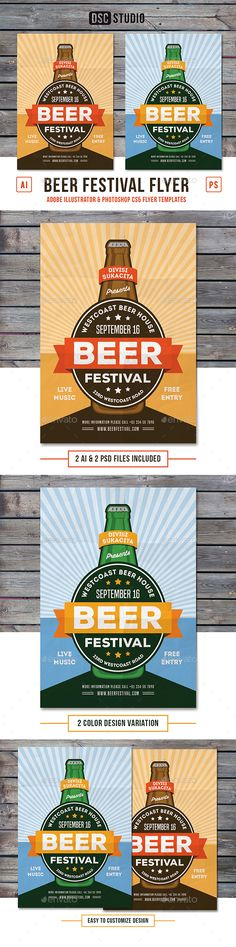 Beer Festival Flyer — Photoshop PSD #party #music • Available here → https://graphicriver.net/item/beer-festival-flyer/17831673?ref=pxcr