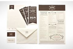 Hazienda - visual identity for a restaurant by Matilda Svensson, via Behance