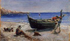 Fishing Boat by Henri de Toulouse-Lautrec, oil on panel, 1880