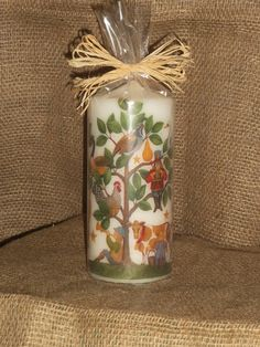 12 Days of Christmas candle, wrapped for gifting