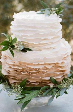 Stylish wedding cake