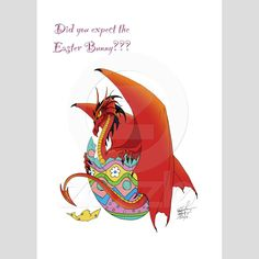 Easter Dragon Card from Zazzle.com by  tigressdragon