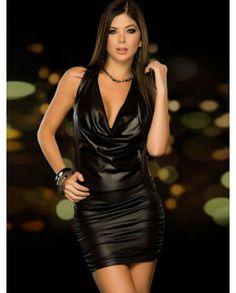6f0646367d7 HANBINGPO Sexy Erotic Womens Sexy Lingerie Black Backless Latex Leather  Costume Erotic Dance Dress RED XL     You could find even more details by  checking ...