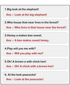 Jumbled Words to Form a Sentence Worksheet Simple Sentences Worksheet, Writing Sentences Worksheets, Rhyming Worksheet, 1st Grade Worksheets, Complete Sentences, Sentence Writing, English Grammar For Kids, Teaching English Grammar, Grammar Skills