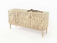 So Hot Right Now // Scale Shingles in Architecture & Design... the Shake Sideboard by; Sebastian Cox + Benchmark Furniture...