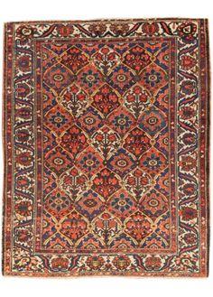 Antique Persian Rust Bakhtiari – Apadana Fine Rugs 5x6