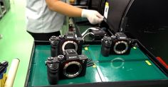 Want to see what goes on inside Sony's main factory for digital cameras and lenses? Here's a 4-minute video that shows how the Sony a7R II is assembled, te