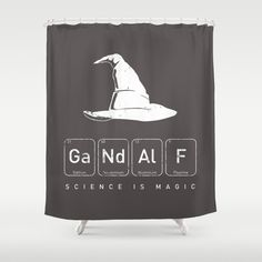Gandalf's Magical Science Shower Curtain https://www.pinterest.com/lahana/lord-of-the-rings-lotr-the-hobbit/