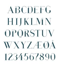 Run Away font by Oda Sofie Granholt, via Behance