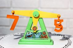 Vintage Sesame Street Scale  Cookie Monster Counting by CabinOn6th, $7.00