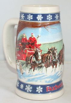 1995 Ceramarte Budweiser Holiday Beer Stein