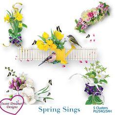 Spring Sings Clusters - $1.00 : ScrapPNG, Digital Craft Graphics