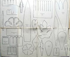 Crepe Paper Flower Patterns - Via the adventures of bluegirlxo