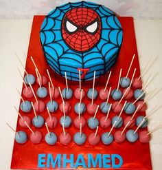 Emhamed's spiderman-Cake and cakepops