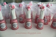 bachelorette party gift nail polish This would make a cute favor at a Bridal shower of bachelorette party