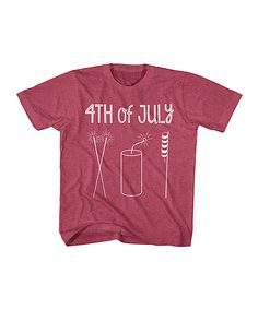 Heather Red '4th of July' Tee - Toddler & Kids