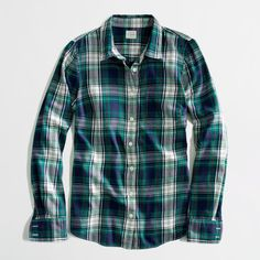 Factory classic button-down shirt in flannel washed shirts ($30) ❤ liked on Polyvore
