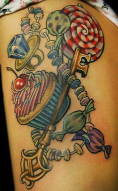 Candy Key Tattoo  by ~Phedre1985