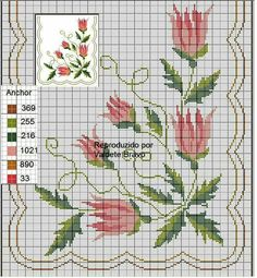 This Pin was discovered by Ebr Cross Stitch Pillow, Cross Stitch Rose, Cross Stitch Flowers, Cross Stitch Charts, Cross Stitch Designs, Cross Stitching, Cross Stitch Embroidery, Hand Embroidery, Bargello