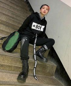 Grunge Fashion, Trendy Fashion, Fashion Looks, Womens Fashion, Ulzzang Fashion, Korean Fashion, Slow Fashion, Fitness Fashion, Kids Outfits