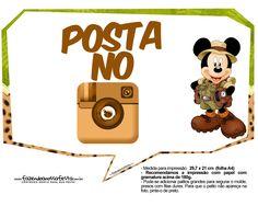 Plaquinhas Mickey Safari 8