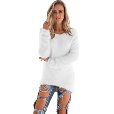 191ced90758 2016 New Hot Women Autumn Winter Fleece Warm Sweaters Long Sleeve Solid  Jumper Pullover Tops Bottoming Blouse Shirts Plus Size