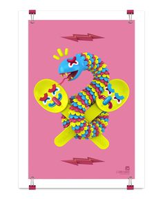 Yumorama by El Grand Chamaco, via Behance. — Posters, mural and character design
