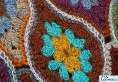 모티브 : 네이버 블로그 Crochet Flower Patterns, Crochet Flowers, Afghan Blanket, Crochet Blouse, Master Class, Crochet Stitches, Needlework, Projects To Try, Photo Wall