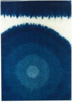 """Light and Shade"" (indigo fabric design)  Reiko MATSUSHITA"