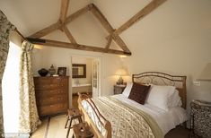 Snug: Rooms higher in the house have authentic exposed wooden beams...