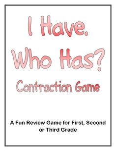 Are you looking for an easy-to-prepare, easy-to-use review game for contractions?  Look no further!  This highly-engaging game has been tested ...