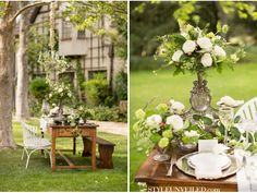 Downton Abbey Garden Wedding Inspiration / Produced by Be Inspired PR / Allyson Magda Photography / via StyleUnveiled.com