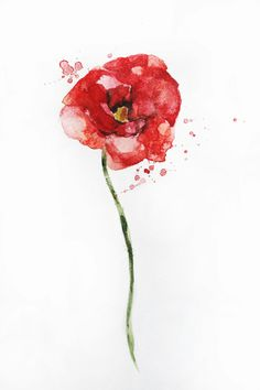 Red poppy watercolor flower art print poppies atmospheric sale original watercolor poppy painting poppies flowers decor red art wall decor mightylinksfo Gallery