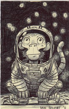 Space Monkey, Prints for sale, Dan Santat