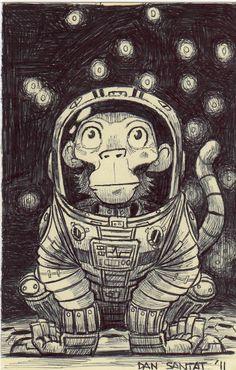 Space Monkey, Prints for sale, Dan Santat